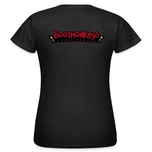 Bootmonkeys Club Girlie Shirt BRAUN Flock mit Affe - Frauen T-Shirt