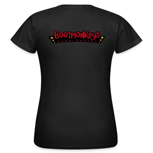 Bootmonkeys Club Girlie Shirt BRAUN Flock - Frauen T-Shirt