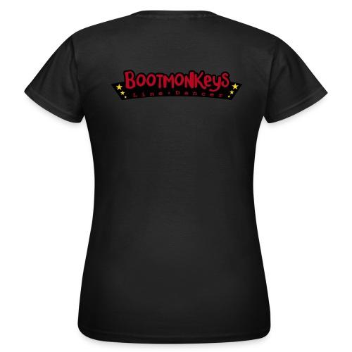 Bootmonkeys Club Girlie Shirt BRAUN Flock - Frauen T-Shirt