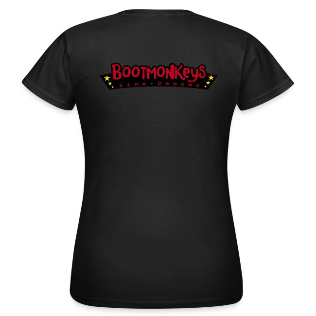 Bootmonkeys Club Girlie Shirt BRAUN Flock
