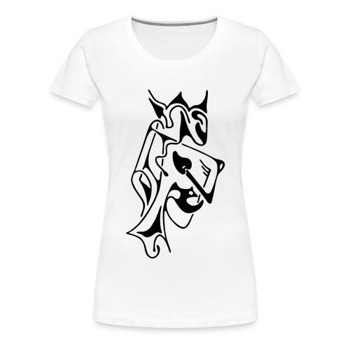 T-Shirt basique femme, motif devant, roi - T-shirt Premium Femme