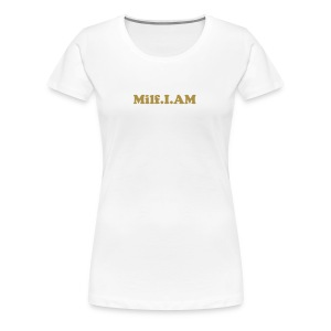 Smar-Tees Ladies Gold Glitter Milf.I.AM Tee - Women's Premium T-Shirt