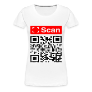 T-Shirts ~ Women's Premium T-Shirt ~ QR snan with how to do safe abortion with misoprostol information