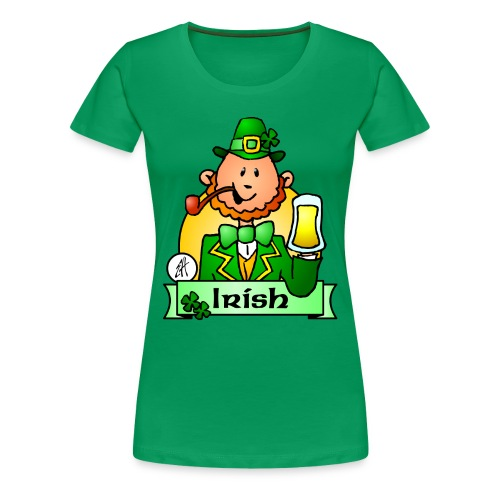 Paddy celebrates St. Patrick's Day - Women's Premium T-Shirt