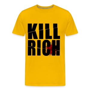 KILL RICH YELLOW BIG - Camiseta premium hombre