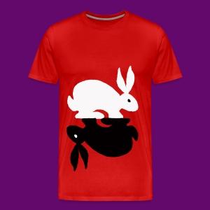 LAPIN YING YANG 2 - T-shirt Premium Homme