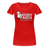 T-Shirts ~ Women's Premium T-Shirt ~ Moody Panda Girly