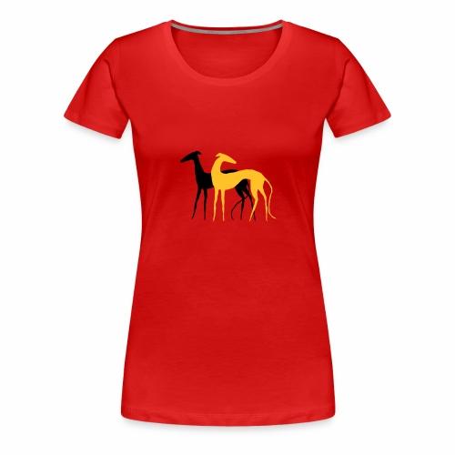 Galgos de la Luz - Frauen Premium T-Shirt