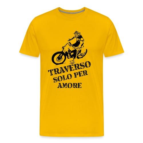 Maglietta Premium da uomo - zaeta, la moto da flat track - traverso solo per amore