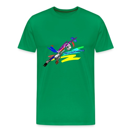 Übergrößenhemd modernes Muster - Männer Premium T-Shirt