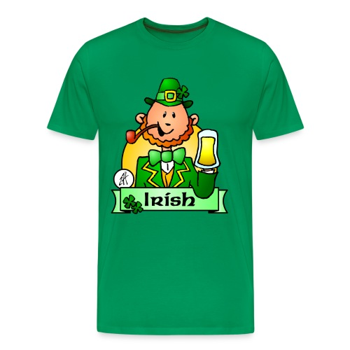 Paddy celebrates St. Patrick's Day - Men's Premium T-Shirt