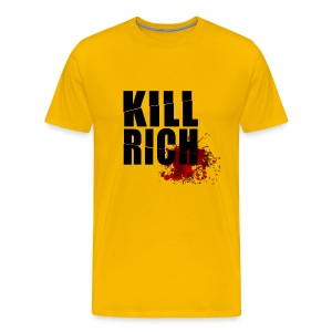 KILL RICH YELLOW SMALL - Camiseta premium hombre