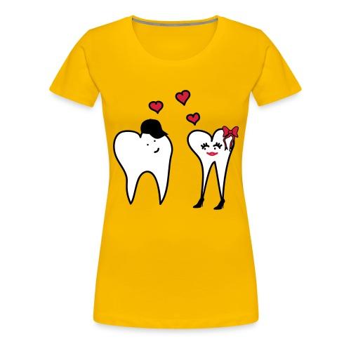 Zähne in Love - Frauen Premium T-Shirt