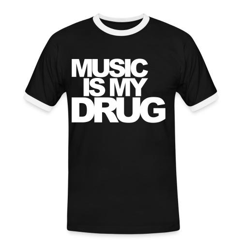 H Cam. Contr. Music Drug Negro/Blanco - Camiseta contraste hombre