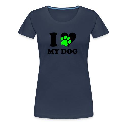 I love my Dog große Größen Damen mit homepage - Frauen Premium T-Shirt
