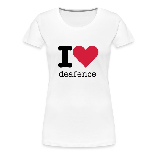 I <3 deafence - Women's Premium T-Shirt