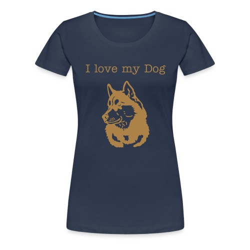I love my Dogs Husky Damen - Frauen Premium T-Shirt