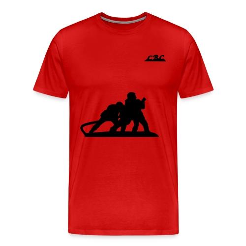 Trois Pompiers en action d'extinction - T-shirt Premium Homme