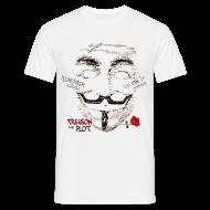 T-skjorter ~ T-skjorte for menn ~ V for Vendetta T-skjorte. Guy Fawkes maske.