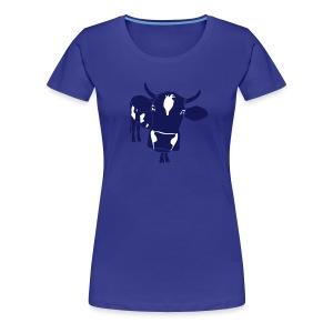kuh rind muh milch bauer farm alm heidi fleckvieh  lila cow T-Shirts - Frauen Premium T-Shirt