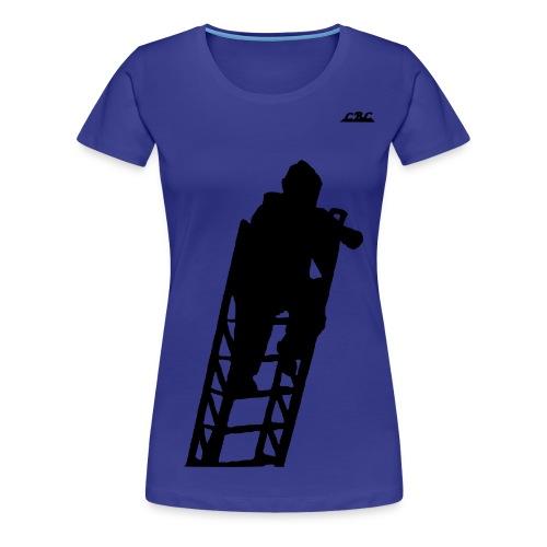 Pompier sur Echelle EPA - T-shirt Premium Femme