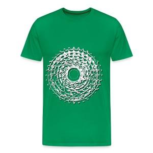 rower_kaseta-cien - Koszulka męska Premium