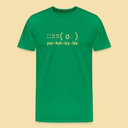 XL Menshirt: yoo-kuh-ley-lee (Motiv: schwarz) - Männer Premium T-Shirt