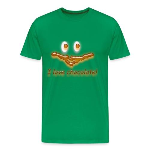 I love chocolate! - Männer Premium T-Shirt
