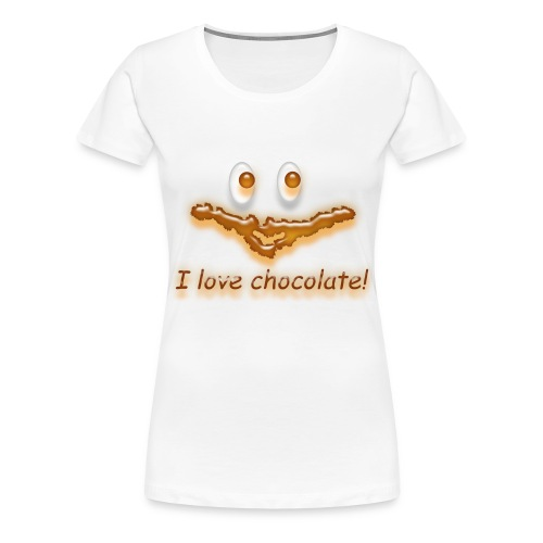 I love chocolate! - Frauen Premium T-Shirt