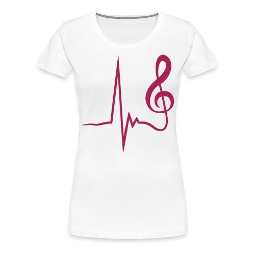 Girlieshort Heartbeat - Frauen Premium T-Shirt