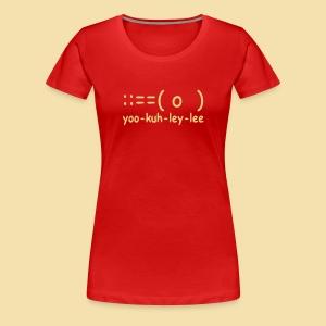 XL Girlshirt: yoo-kuh-ley-lee (Motiv: beige) - Frauen Premium T-Shirt