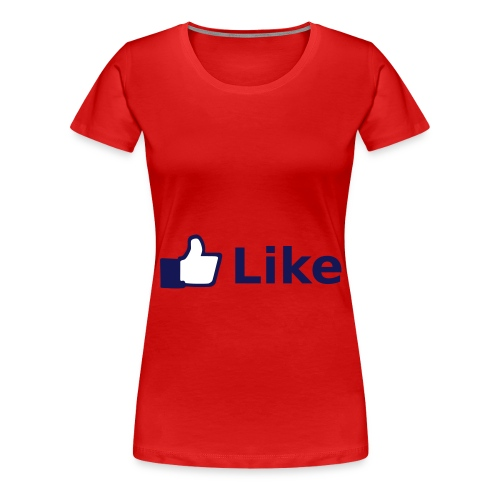 Womens Red Like Shirt - Women's Premium T-Shirt