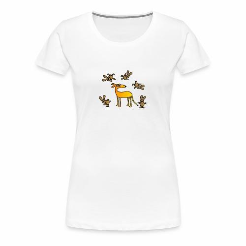 Galgo und Hasen bunt - Frauen Premium T-Shirt