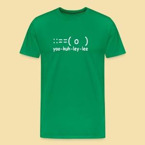 XL Menshirt: yoo-kuh-ley-lee (Motiv: weiß) - Männer Premium T-Shirt