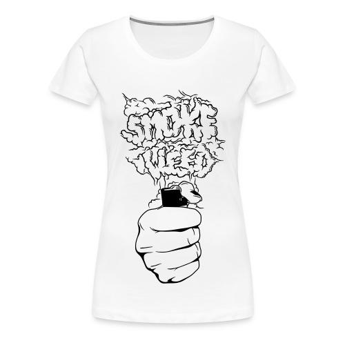 Smoke Weed HP Tee White Women - Vrouwen Premium T-shirt
