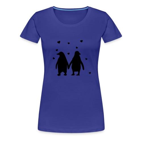 Love Pinguin - Frauen Premium T-Shirt
