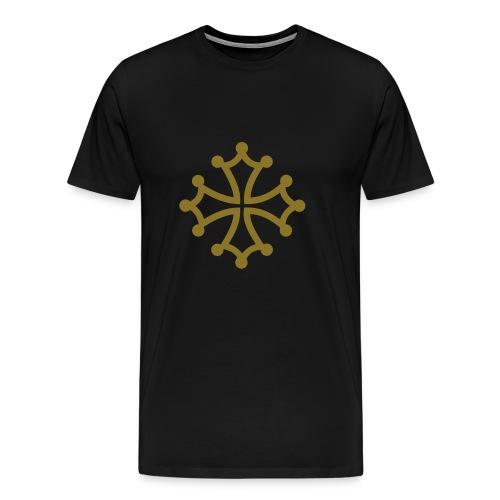 Croix du Languedoc Or et noir - T-shirt Premium Homme