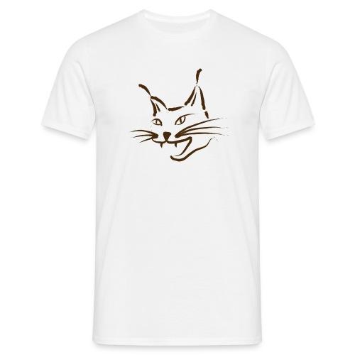 luchs BRAUN lynx cougar  katze wild T-Shirts - Männer T-Shirt