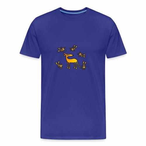Galgo und Hasen bunt - Männer Premium T-Shirt