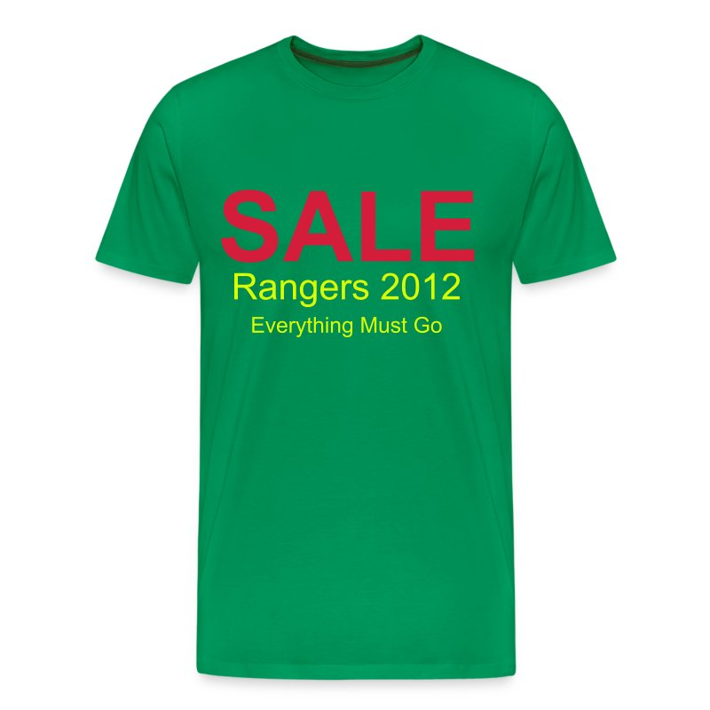 Rangers Sale - Green - Men's Premium T-Shirt