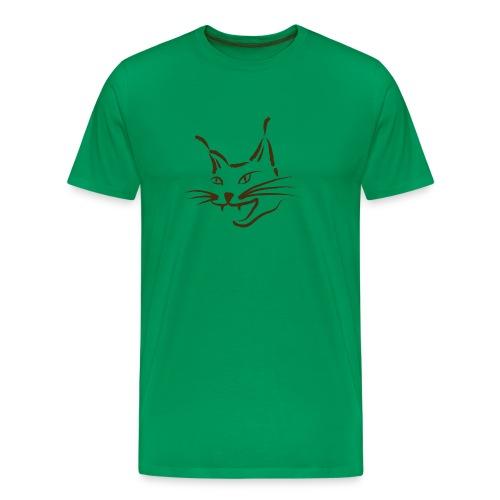 luchs BRAUN lynx cougar  katze wild T-Shirts - Männer Premium T-Shirt