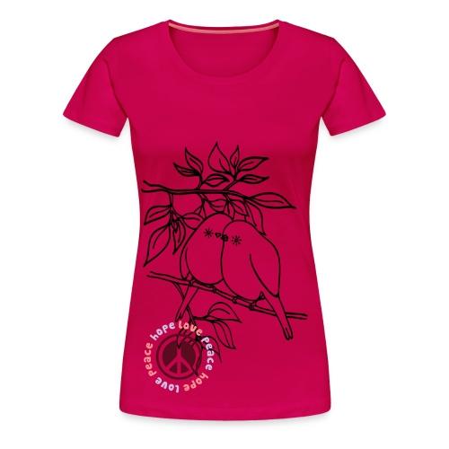 Fly LovePeace T shirt, Pink - Women's Premium T-Shirt