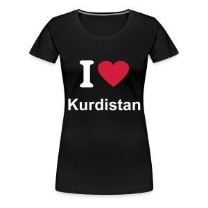 I LOVE KURDISTAN WOMEN SHIRT - Frauen Premium T-Shirt