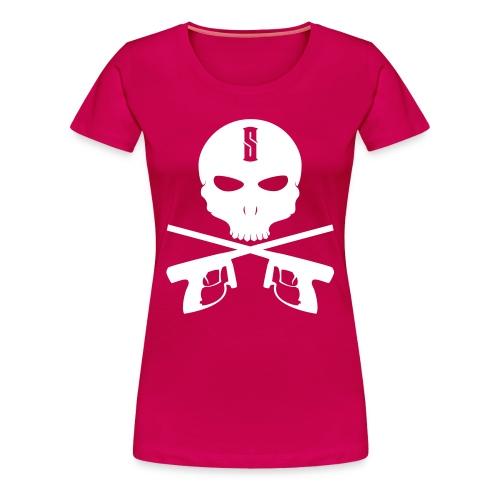 Damen T-Shirt Skull - Frauen Premium T-Shirt