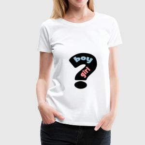 boy or girl ? T-shirts - Vrouwen Premium T-shirt