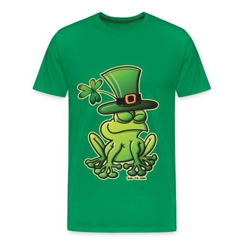 St. Patrick's Day Frog Men's T-Shirt in Green - Men's Premium T-Shirt