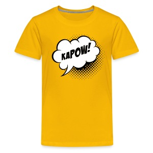 Speech balloon Kapow! Kinder shirts - Teenage Premium T-Shirt