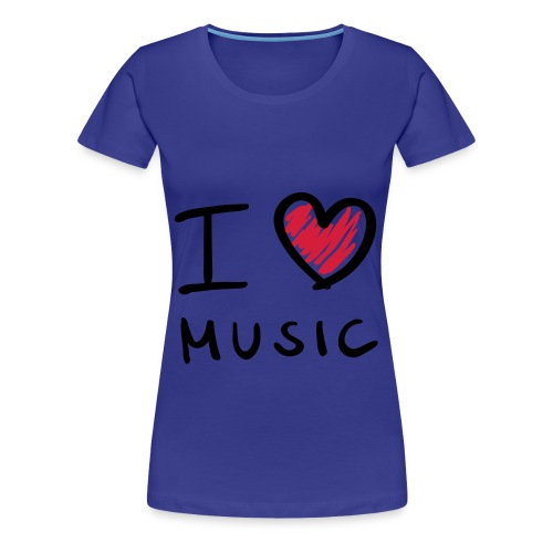 PLR Frauen T-Shirt [I ♥ Music ] - Frauen Premium T-Shirt