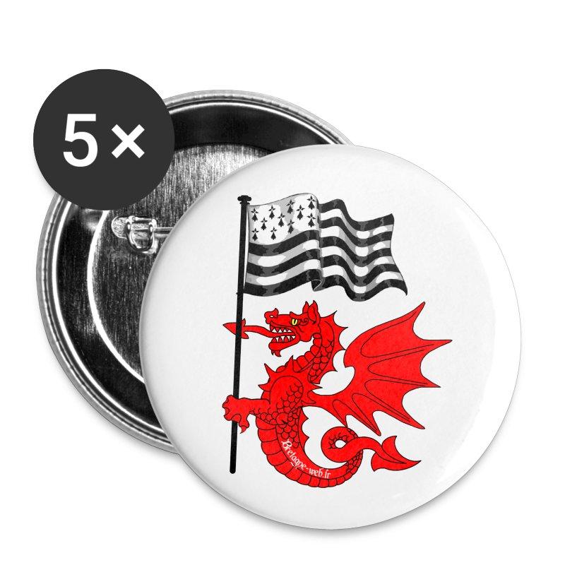 Badge Gwen ha du - Badge petit 25 mm