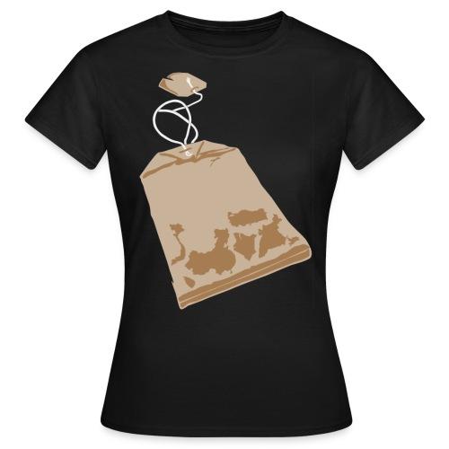 Teabag on color - Women's T-Shirt